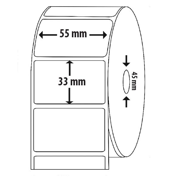 etiqueta 55×33 medidas